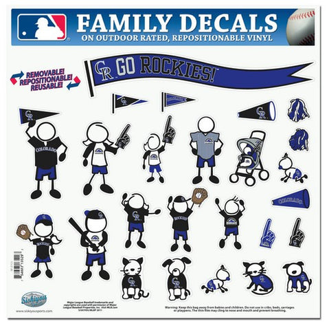 Colorado Rockies Decal 11x11 Family Sheet