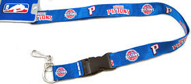 Detroit Pistons Lanyard - Breakaway with Key Ring