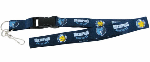 Memphis Grizzlies Lanyard - Breakaway with Key Ring