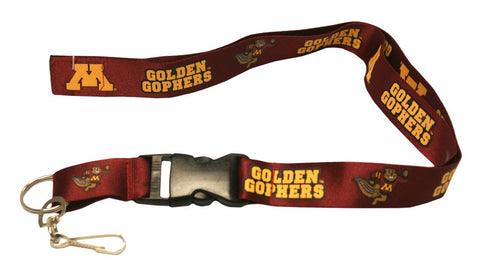 Minnesota Golden Gophers Lanyard - Breakaway with Key Ring