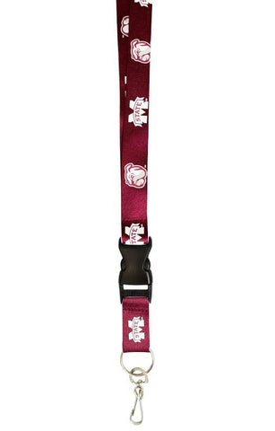 Mississippi State Bulldogs Lanyard - Breakaway with Key Ring