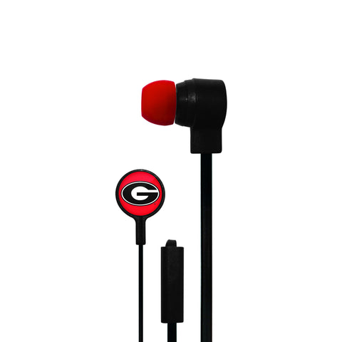 Georgia Bulldogs Big Logo Ear Buds