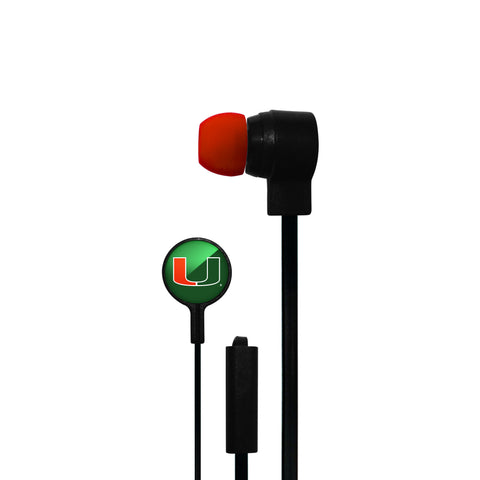 Miami Hurricanes Big Logo Ear Buds