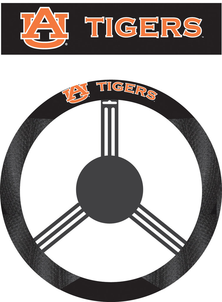 NCAA Officially licensed products Auburn Tigers Poly-Suede Steering Wheel Cover Poly-suede material for comfortable grip. Sl