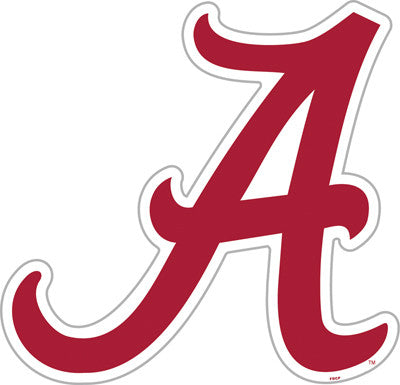 "NCAA Officially licensed products Alabama Crimson Tide Vinyl Magnet Show your team spirit proudly with this  12"" Vinyl Magne"