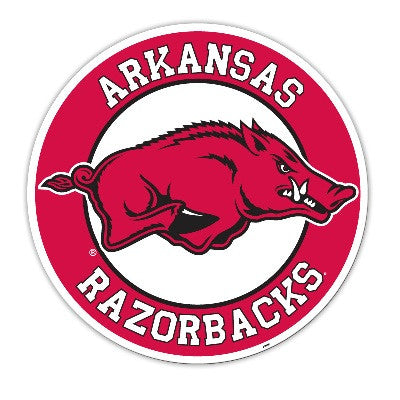 "NCAA Officially licensed products Arkansas Razorbacks Vinyl Magnet Show your team spirit proudly with this  12"" Vinyl Magnet"