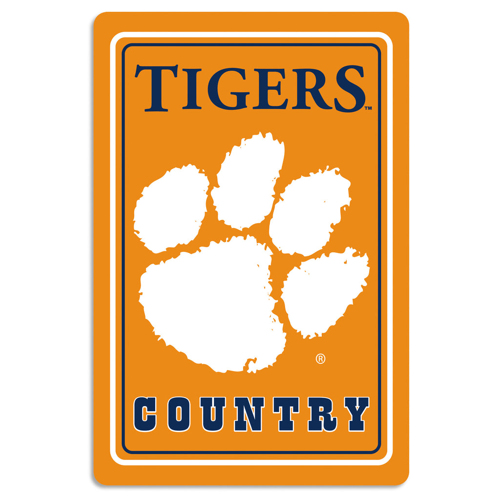"NCAA Officially licensed products Clemson Tigers Metal Sign 12"" x 18"" Show your team spirit proudly with this 12"" X 18"" meta"