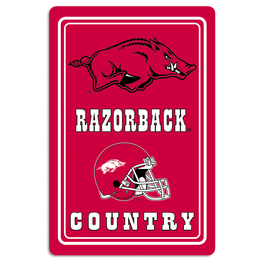 "NCAA Officially licensed products Arkansas Razorbacks Metal Sign 12"" x 18"" Show your team spirit proudly with this 12"" X 18"""