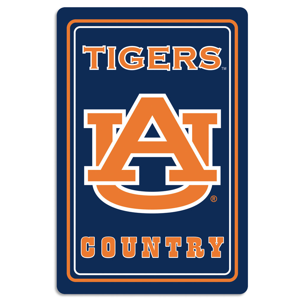 "NCAA Officially licensed products Auburn Tigers Metal Sign 12"" x 18"" Show your team spirit proudly with this 12"" X 18"" metal"