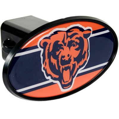 NFL Officially licensed products Chicago Bears Oval Trailer Hitch Cover After you've unhooked your rig, add some gridiron fl