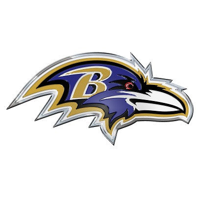 NFL Officially licensed products Baltimore Ravens Color Team Emblem These emblems are made out of light weight aluminum for