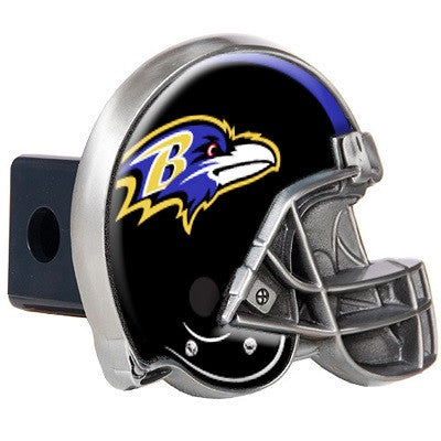 NFL Officially licensed products Baltimore Ravens Helmet Trailer Hitch Cover After you've unhooked your rig, add some gridir