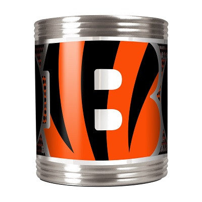 NFL Officially licensed products Cincinnati Bengals Stainless Steel Can Holder with Metallic Graphics This officially licens