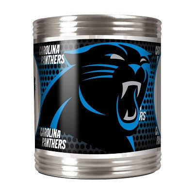 NFL Officially licensed products Carolina Panthers Stainless Steel Can Holder with Metallic Graphics This officially license