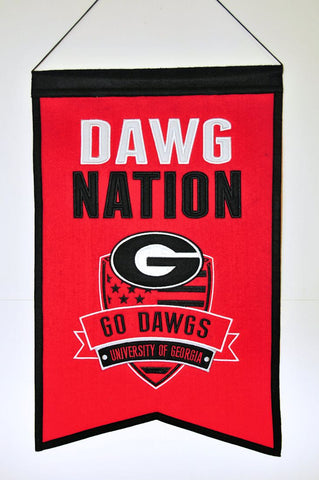 Georgia Bulldogs Banner Wool Nations