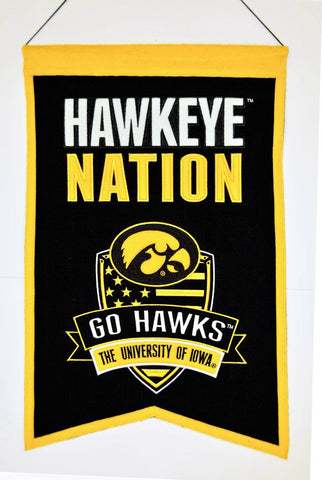 Iowa Hawkeyes Banner Wool Nations
