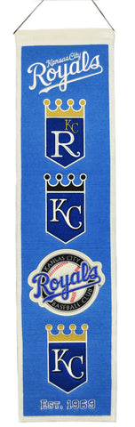 Kansas City Royals Banner 8x32 Wool Heritage