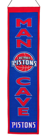 Detroit Pistons Banner Wool Man Cave