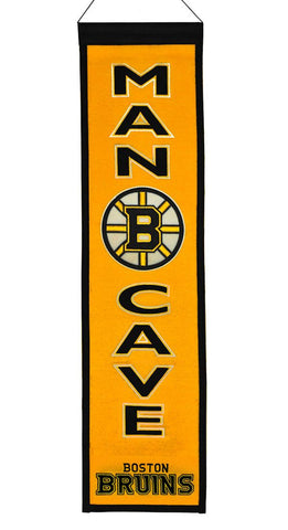 Boston Bruins Banner Wool Man Cave