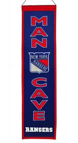 New York Rangers Banner Wool Man Cave