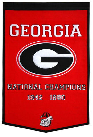 Georgia Bulldogs Banner 24x36 Wool Dynasty