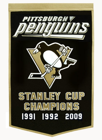 Pittsburgh Penguins Banner 24x36 Wool Dynasty Pre 2016