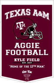 Texas A&M Aggies Banner 18x27 PowerHouse