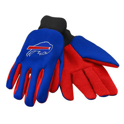 NFL Officially licensed products Buffalo Bills Work / Utility Gloves These work gloves are two-toned and have an officially