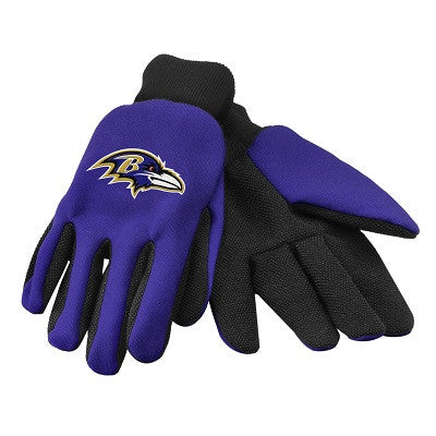 NFL Officially licensed products Baltimore Ravens Work / Utility Gloves These work gloves are two-toned and have an official