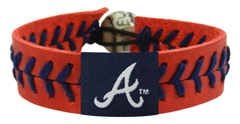 Atlanta Braves Baseball Bracelet - Team Color Style