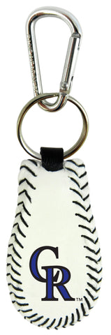 Colorado Rockies Baseball Keychain