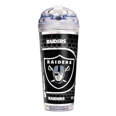 NFL Officially licensed products Oakland Raiders 24 Oz. Acrylic Tumbler w/ Straw This officially licensed 24 oz. acrylic tum