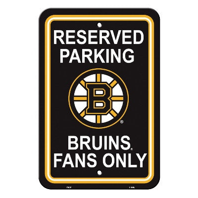 "NHL Officially licensed products Boston Bruins Plastic Parking Sign Show your team spirit proudly with this 12"" X 18"" Parkin"