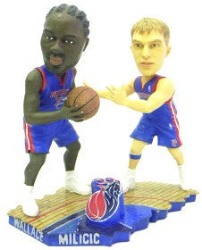 Detroit Pistons Milicic & Wallace Forever Collectibles Bobble Mates