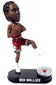 Chicago Bulls Ben Wallance Forever Collectibles Blatinum Bobblehead