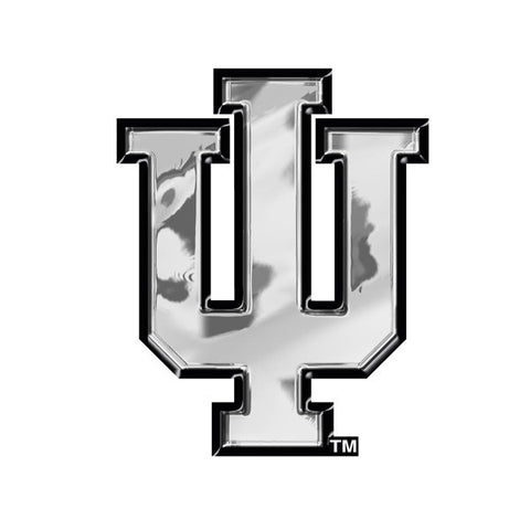 Indiana Hoosiers Auto Emblem - Silver