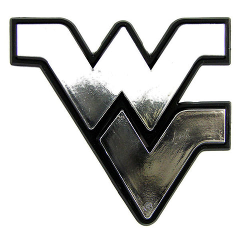 West Virginia Mountaineers Auto Emblem - Silver
