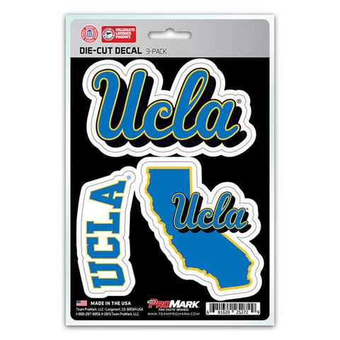 UCLA Bruins Decal Die Cut Team 3 Pack