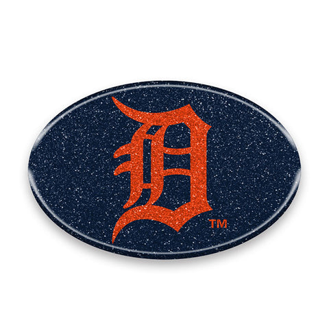 Detroit Tigers Auto Emblem - Oval Color Bling