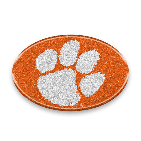 Clemson Tigers Auto Emblem - Oval Color Bling