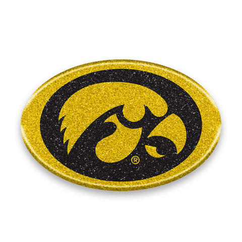 Iowa Hawkeyes Auto Emblem - Oval Color Bling