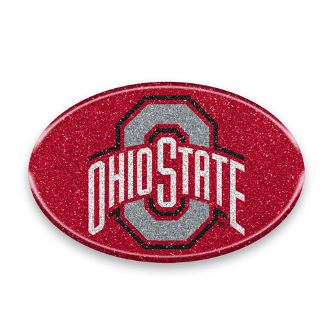 Ohio State Buckeyes Auto Emblem - Oval Color Bling