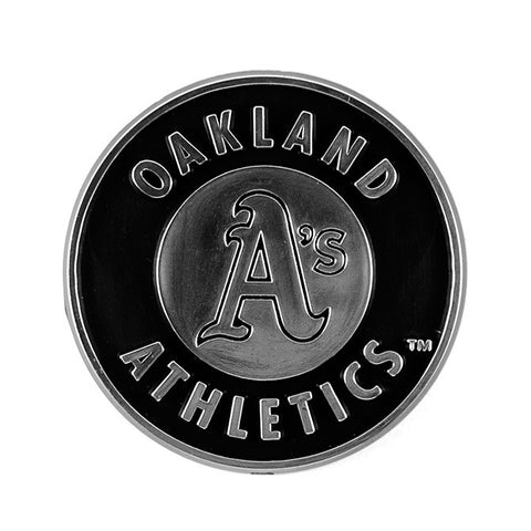 Oakland Athletics Auto Emblem - Silver