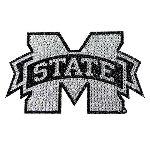 Mississippi State Bulldogs Auto Emblem - Rhinestone Bling