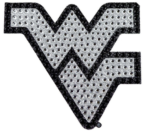 West Virginia Mountaineers Auto Emblem - Rhinestone Bling