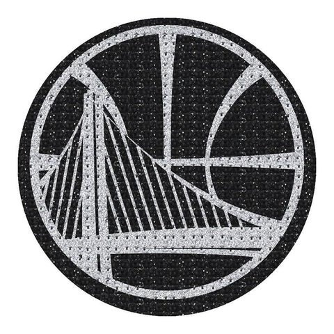 Golden State Warriors Auto Emblem - Rhinestone Bling