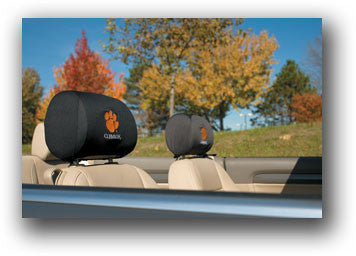 NCAA Officially licensed products Clemson Tigers Headrest Covers Set Of 2 These Headrest Covers are made from a soft elastic