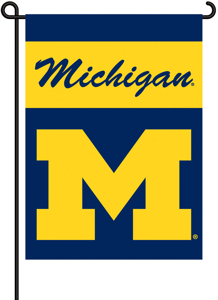 NCAA Officially licensed products Michigan Wolverines 2-Sided Garden Flag  Support your favorite team by hanging up this two