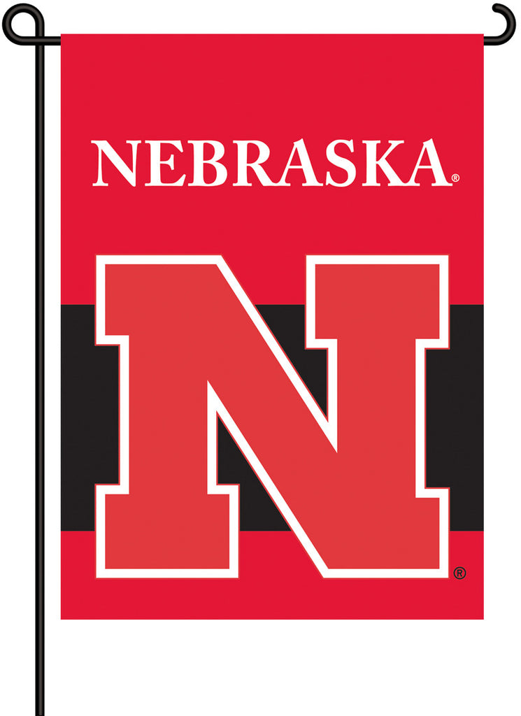 NCAA Officially licensed products Nebraska Cornhuskers 2-Sided Garden Flag  Support your favorite team by hanging up this tw
