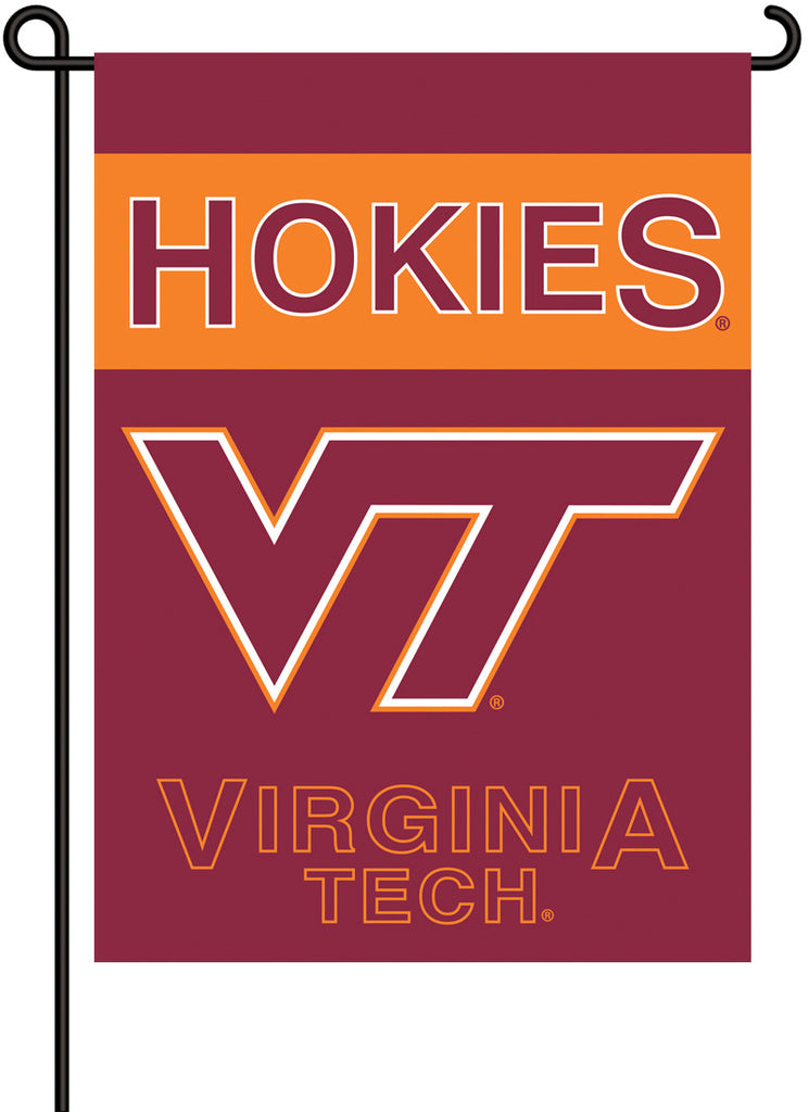 NCAA Officially licensed products Virginia Tech Hokies 2-Sided Garden Flag  Support your favorite team by hanging up this tw